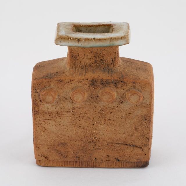Curt Magnus Addin Stoneware Vase With Cream-Glaze Top, Circa 1970s For Sale - Image 4 of 11