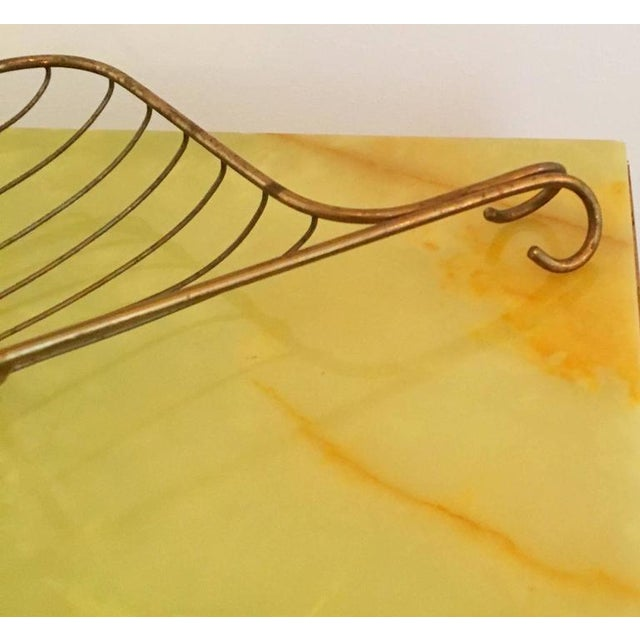 Mid Century Modern Aldo Tura Bronze Bread / Fruit Decorative Table Basket / Tray (Epergnes) - Image 2 of 11