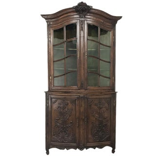 18th Century French Regence Two-Tiered Corner Cabinet For Sale