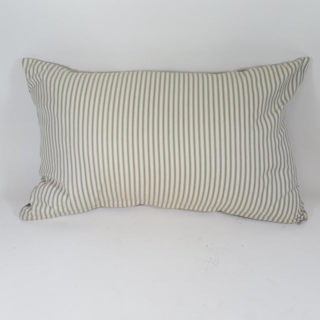 This green botanical bolster pillow was made in Wales, UK., by a small cottage designer/manufacturer owned by a lovely...