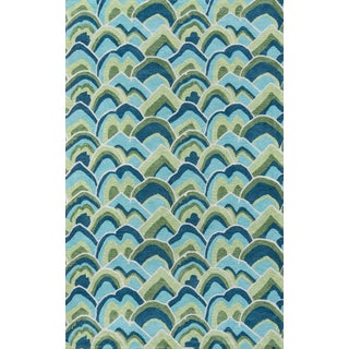 Madcap Cottage Embrace Cloud Club Green Area Rug 5' X 8' For Sale