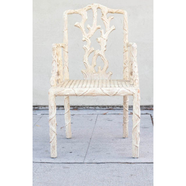 Decorative Branch Faux-Bois Chairs - Set of 4 - Image 5 of 10