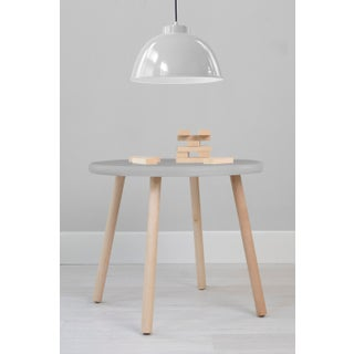 "Peewee Large Round 30"" Kids Table in Maple With Gray Finish Accent Preview"