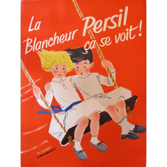 Vintage French Poster, Blancheur Persil Soap Ad - Image 1 of 4