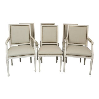1970 Baker Louis XVI Style Dining Chairs - Set of 6 For Sale