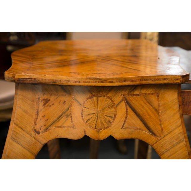 Louis XV 19th Century, Louis XV Style Kingwood Two-Tier Occasional Table For Sale - Image 3 of 7