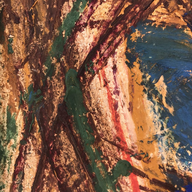 1950s Léonard Kazor - Figurative - Oil on Board - Signed - Abstract Expressionist - 1952 For Sale - Image 5 of 10