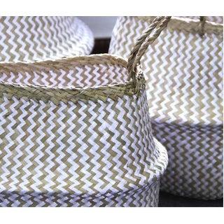 Medium Zig Zag Sea Grass Belly Basket Preview