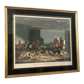 """Antique Framed Etching of """"Francis Duckenfield Astley Esqr and His Harriers"""" For Sale"""