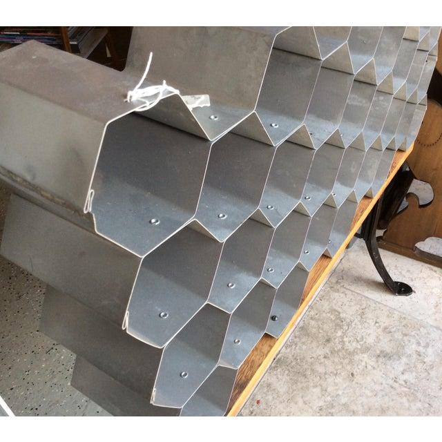 Galvanized Honeycomb Wine Rack - Image 4 of 4