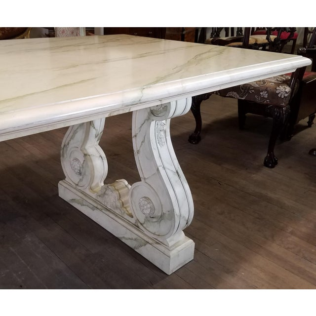 Mid 20th Century Vintage Faux Marble Grecian Dining Table For Sale - Image 5 of 7