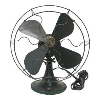 Antique Green Ge Fan For Sale