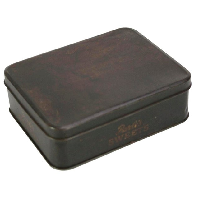 Boho Chic Vintage Candy Tin Box For Sale - Image 3 of 5