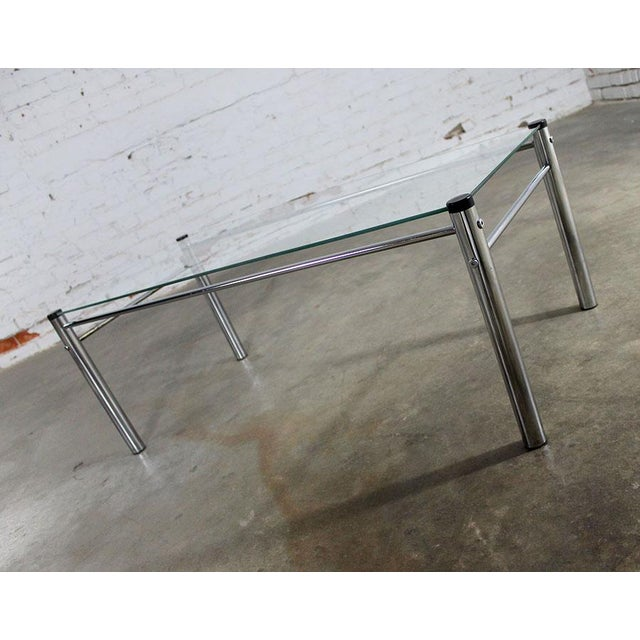James David Furniture Attributed Chrome & Glass Coffee Table - Image 5 of 12