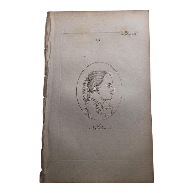 Girl in Profile Antique Physiognomy Art Print, 1804 For Sale