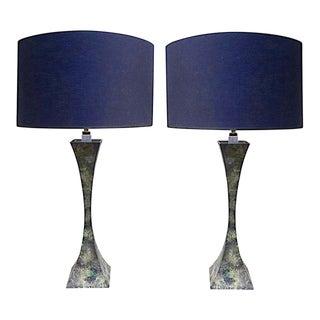 Pair of Hansen Bronze Table Lamps Designed by Damon Giffard - Stewart Ross James For Sale