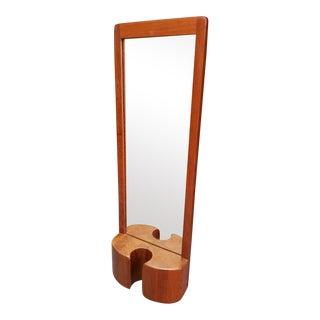 Mid-Century Modern Danish Randers Mobelfabrik Teak Mirror Decor For Sale