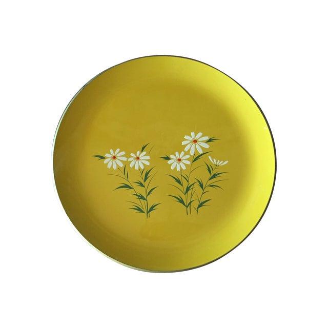 Hand Painted Yellow Daisy Tray - Image 1 of 6