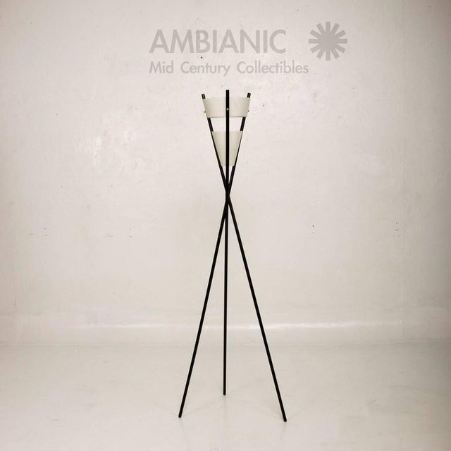 Mid Century Modern Black Tripod Floor Lamp After McCobb For Sale In San Diego - Image 6 of 7