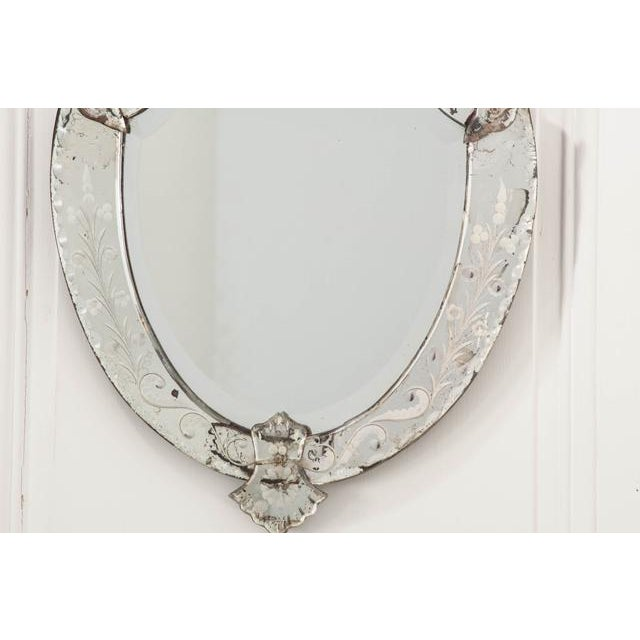 Late 19th Century Late 19th Century Venetian Shield Form Wall Mirror For Sale - Image 5 of 10