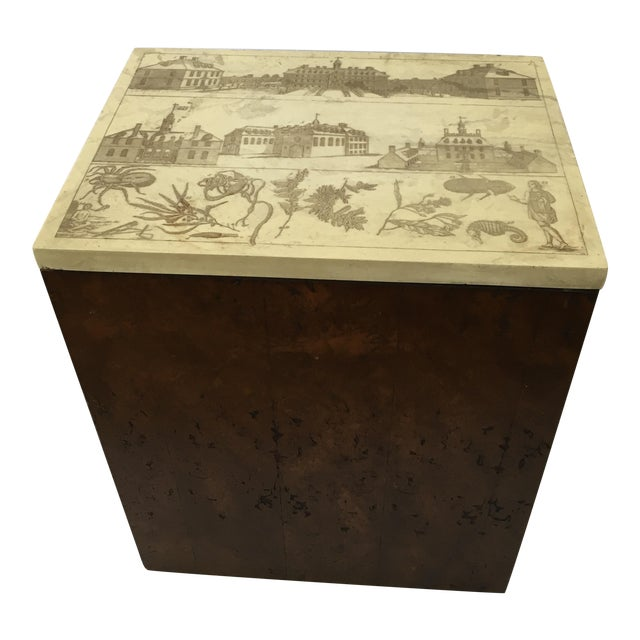 Etched Top Side Table - Image 1 of 7