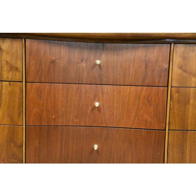 Forward Furniture by Unagusta Walnut Dresser For Sale - Image 9 of 11