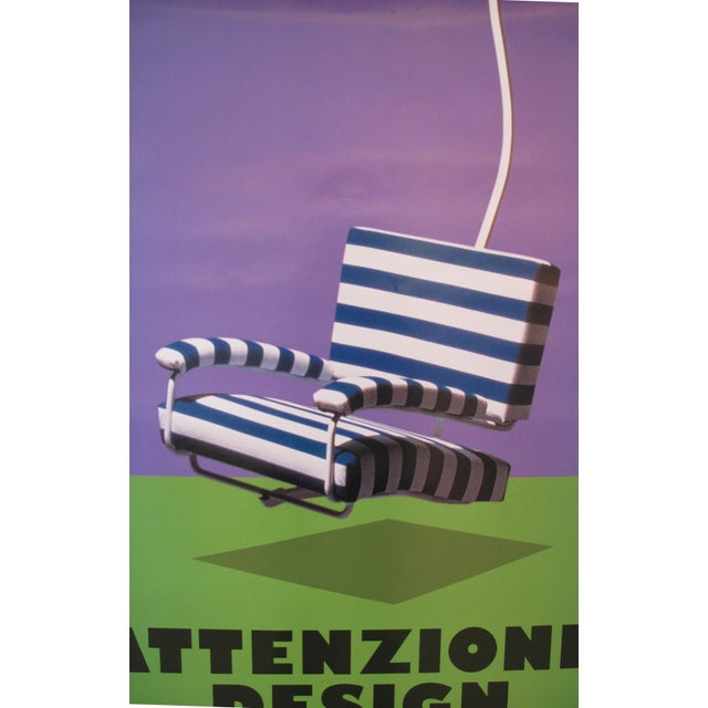 "2006 Design Exhibition Poster, ""Attenzione, Design"", Il Modo Italiano (Striped Chair) - Image 2 of 2"