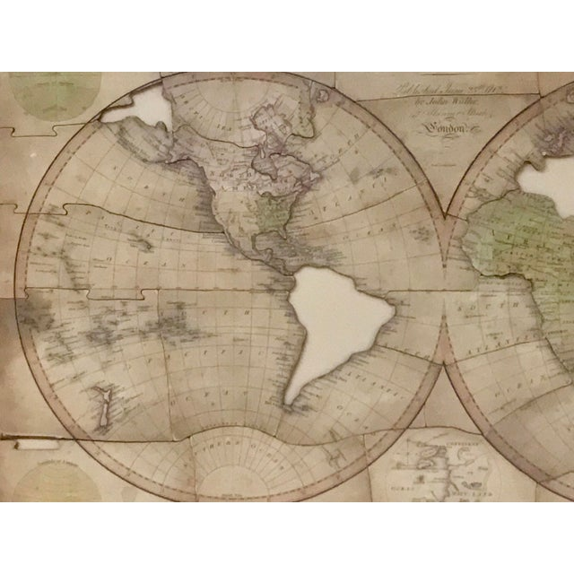 Early 19th Century John Wallis's New Dissected 1812 Puzzle World Map For Sale - Image 5 of 10