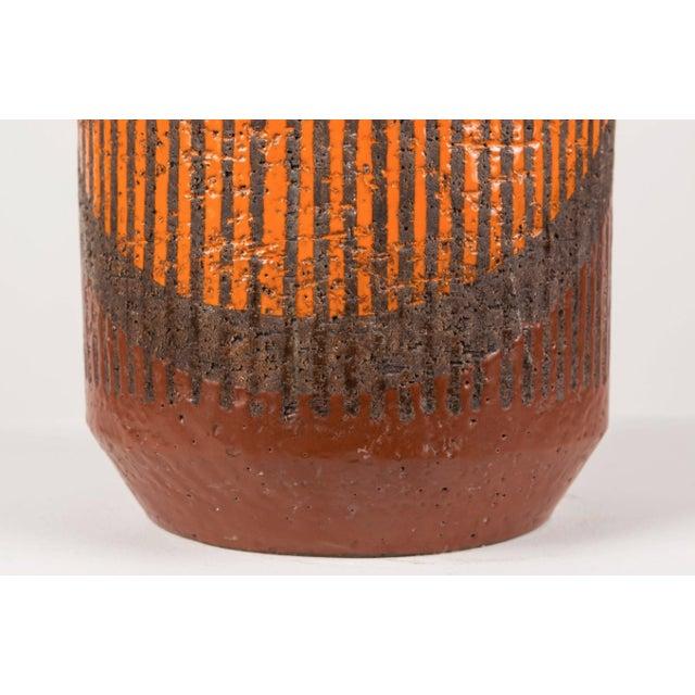 Bitossi Hand-Glazed Orange Studio Lamp For Sale - Image 5 of 6