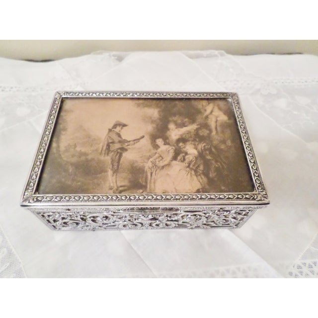 Antique Baroque Sterling Silver Music Box Trinket Box For Sale - Image 11 of 11