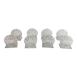 8 Baccarat Place Card Holders Shell Form For Sale