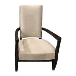 Vintage Armchair From a French Hotel, Newly Recovered For Sale