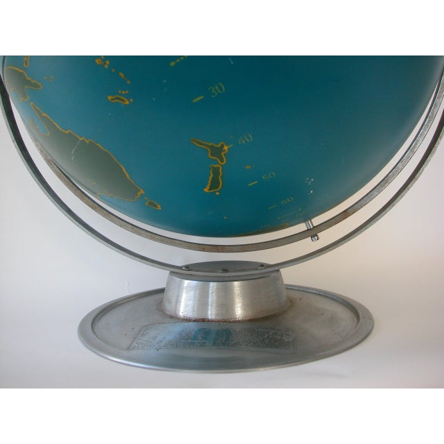 A.J. Nystrom Vintage Nystrom Aviation Globe For Sale - Image 4 of 11