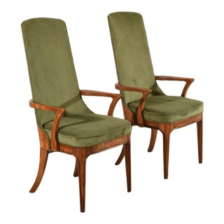 1960s Vintage Mixed Wood Armchairs - a Pair For Sale