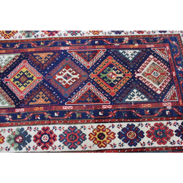 Hand knotted of top quality wool and cotton in the 1880s. Talish rugs are typically 2 to 3 times as long as they are wide,...