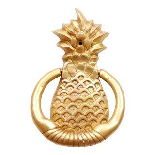 Brass Pineapple Door Knocker For Sale