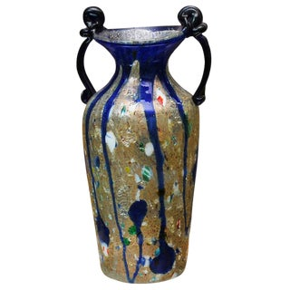 Vintage Murano Glass Vase For Sale