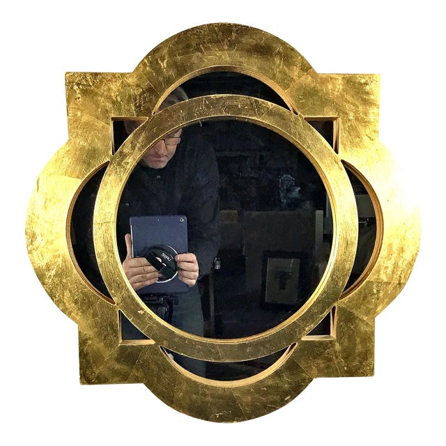 Modern Gilt-Gold Painted Wood Framed Mirror For Sale