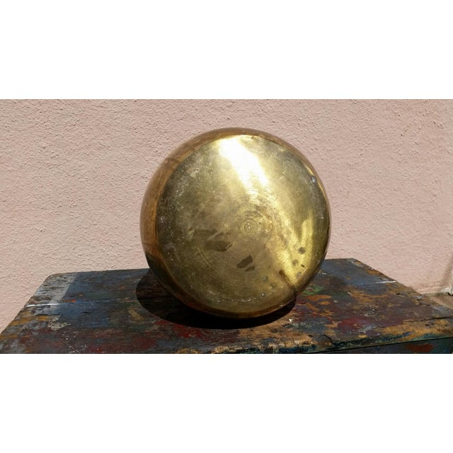 Large Brass Handled Pot - Image 6 of 6