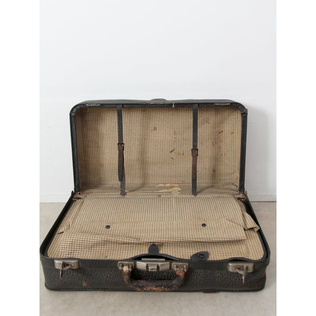 Vintage Black Leather Suitcase - Image 8 of 8
