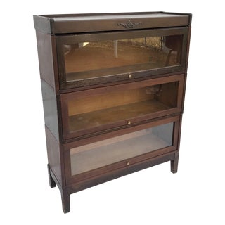 Vintage Stacking Barrister Bookcase by Udell For Sale