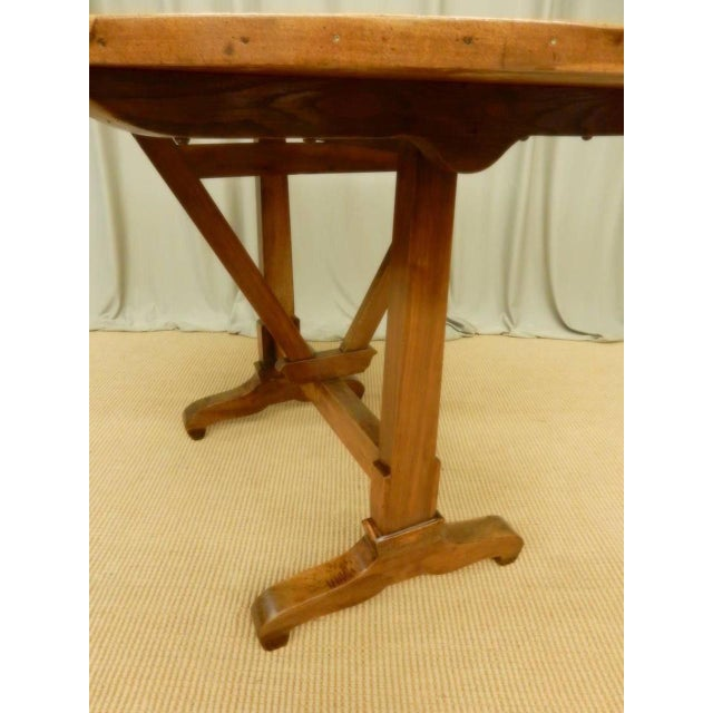 Brown Early 19th Century French Provincial Walnut Wine Table For Sale - Image 8 of 9
