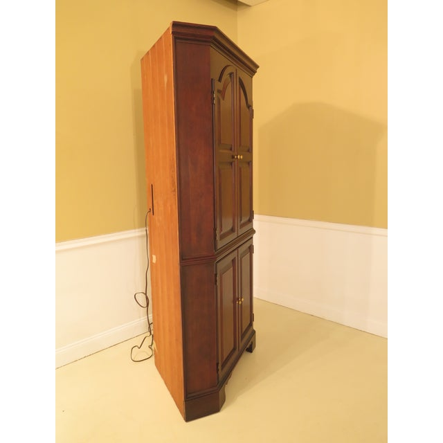 Traditional Raised Panel Door Solid Cherry Tv Corner Cabinet For Sale - Image 3 of 13