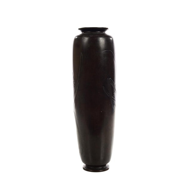 Japanese Beautiful 19th Century Meiji Bronze Vase -Signed For Sale In Los Angeles - Image 6 of 8