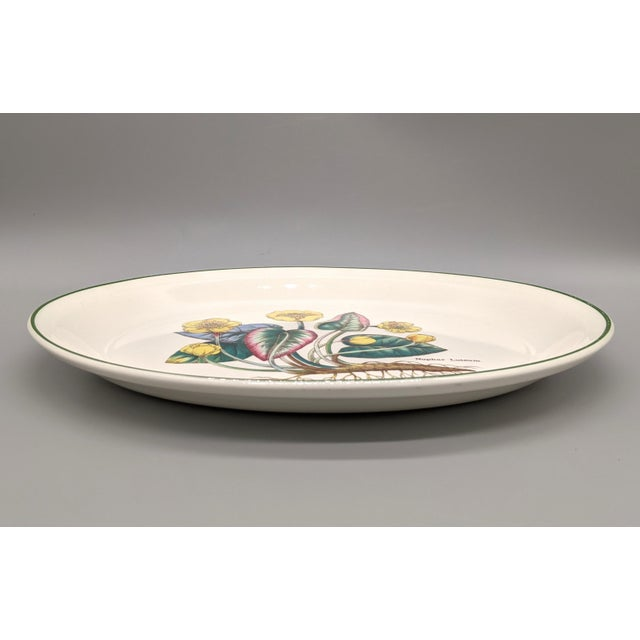 Ceramic 1970s English Enoch Wedgwood Tuns Botanical Nuphar Luteum Serving Platter For Sale - Image 7 of 9