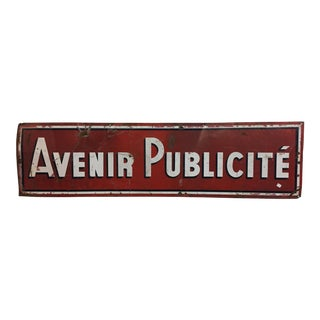 French Advertising Sign For Sale