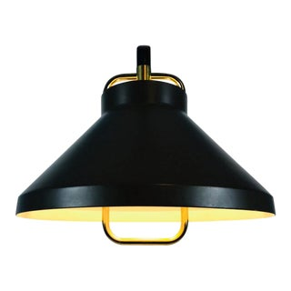 Brown Metal and Brass Pendant Lamp by Jo Hammerborg for Fog & Mørup, 1970s For Sale