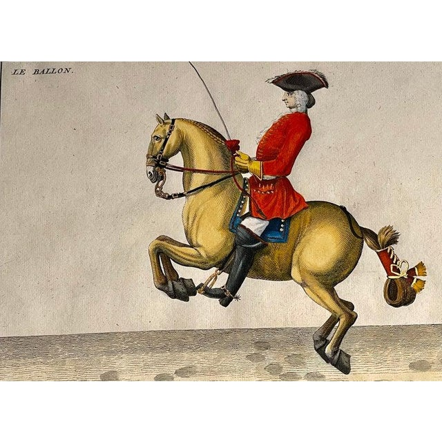 Electric Yellow Four Engravings of Horse Riders Le Sensible, Le Royal, Le Conquerant, Le Ballon For Sale - Image 8 of 11