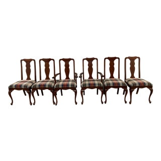1990s Vintage Cherry Harden Dining Chairs- Set of 6 For Sale