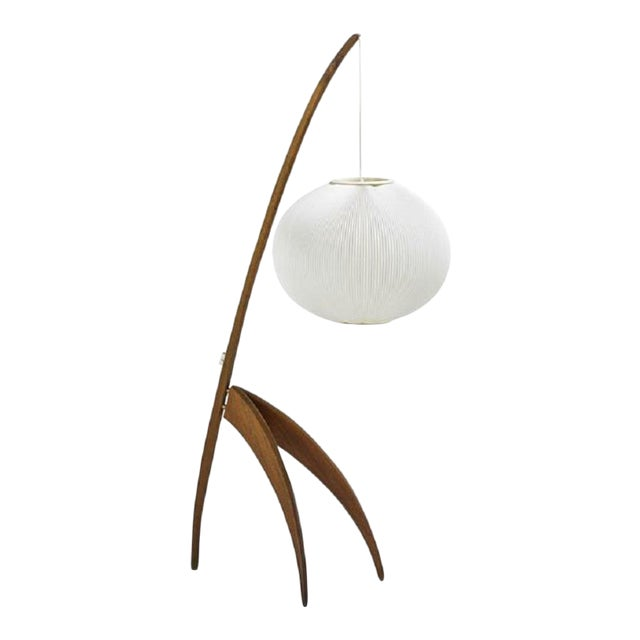 Mid Century Modern French Floor Lamp by Rispal For Sale